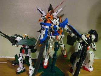 Celestial Being's Season 1 Gundams in 1/144 HG by Lock-OS