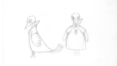 Mage Bird Character Sketch by lapeachMC