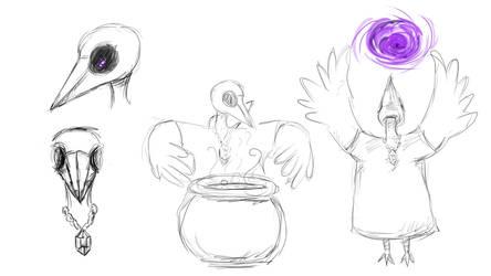 Mage Bird Sketches by lapeachMC
