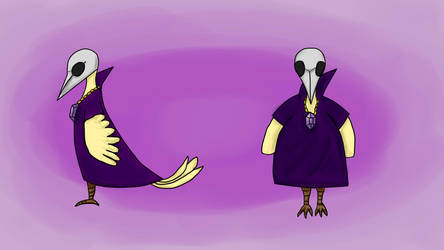 Mage Bird Character - Color by lapeachMC