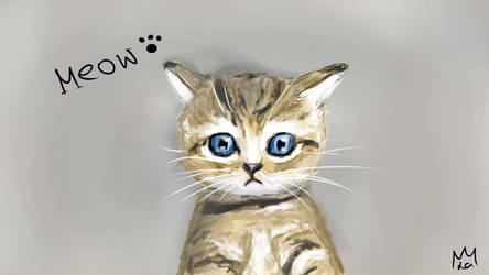 Meow - Kitten Art by lapeachMC