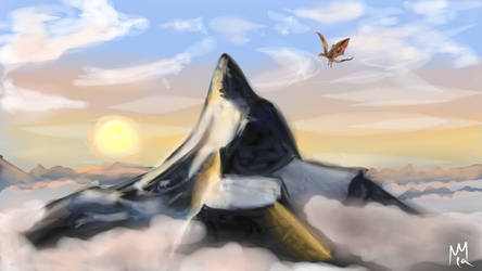 Lonely Mountain - Hobbit by lapeachMC