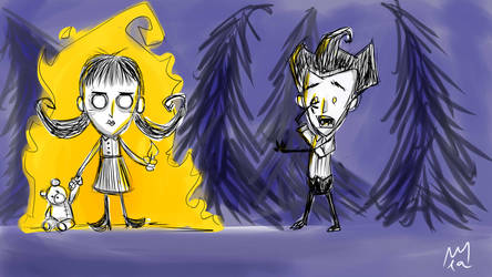Willow and Wilson - Don't Starve by lapeachMC