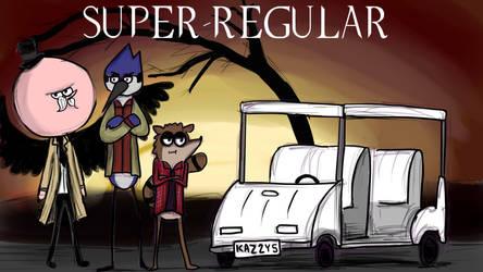 Super-regular - Supernatural x Regular Show cross by lapeachMC