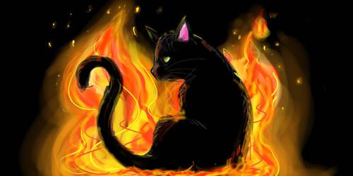 Fire Kitten by lapeachMC