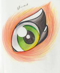 Green eye by EmilyBandicoot1234