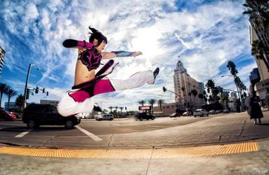 Juri Han from Street Fighter 2 Jump Kick! by SNTP