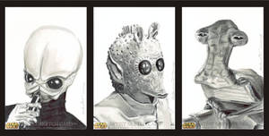 Star Wars Sketch Cards Cantina by antonvandort