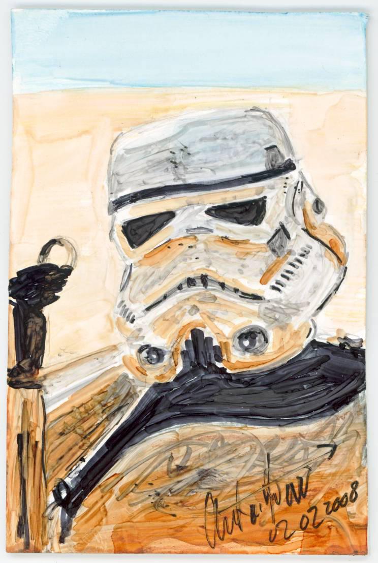 Sketch Card Look Sir, droids by antonvandort