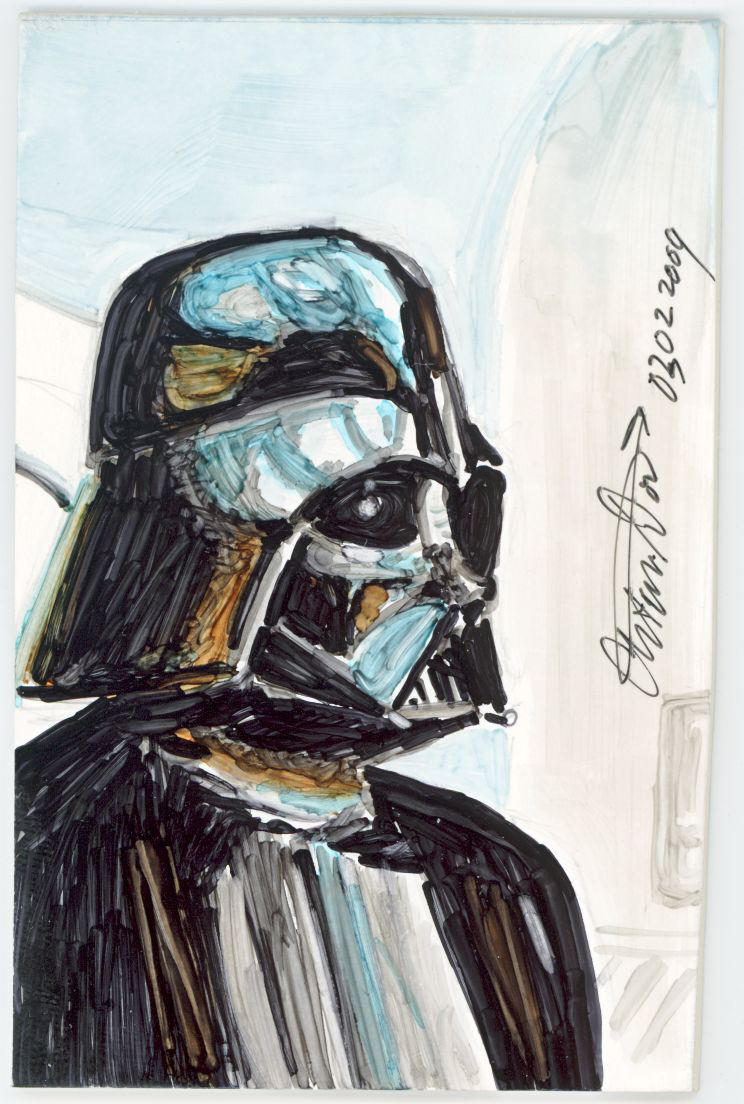 Sketch Card Darth Vader by antonvandort