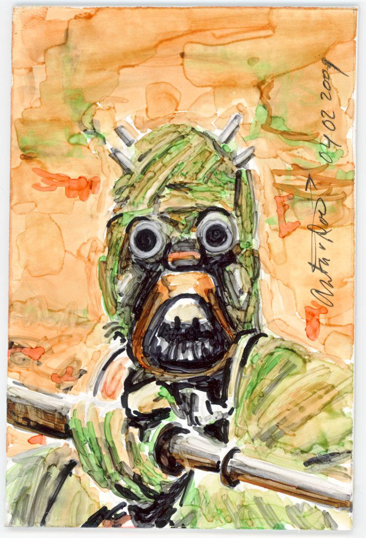 Sketch Card Tusken Raider by antonvandort