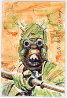 Sketch Card Tusken Raider by antonvandort