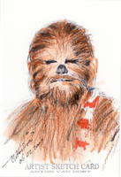 sketch card chewbacca by antonvandort