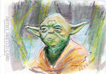 Sketch Card Yoda by antonvandort