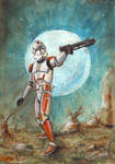 Star Wars: Clone Trooper by antonvandort