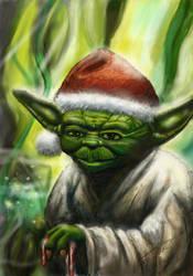 Christmas Yoda by antonvandort