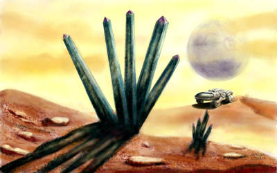 Alien landscape with BET by antonvandort
