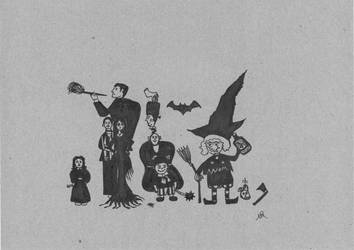 My version of The Addams Family by roundtower