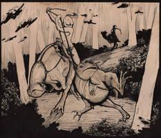 Chasing a wild elum. by LazyDragonAss