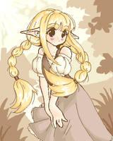 Old oekaki - elf girl by namieiku
