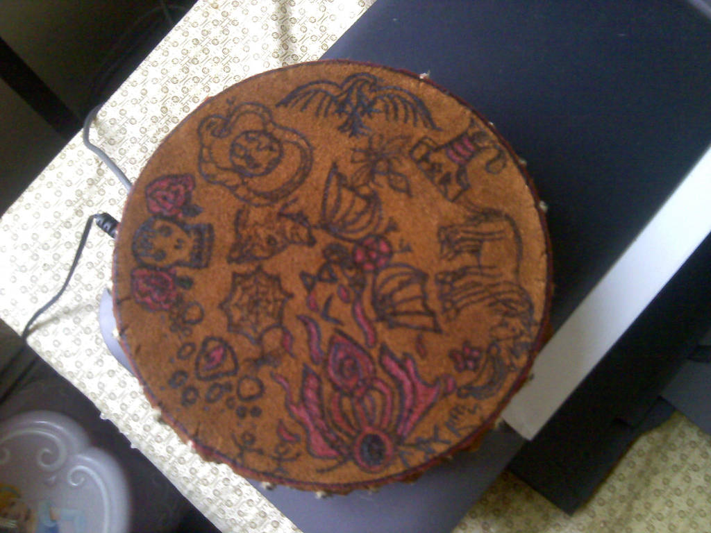 Painted Drum 2 by Darkbookworm26