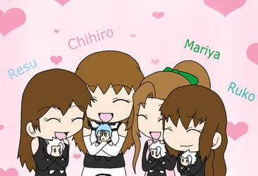 Chihiro, Resu, Mariya, Ruko- Our Boys by K-chanLovesAnimeXD