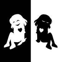 Frisk and Chara- Bad Apple by K-chanLovesAnimeXD