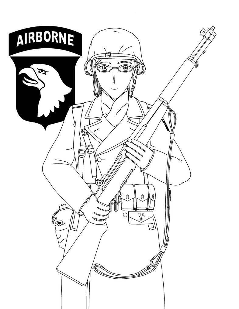 juno coren 101st airborne 1944 45 lineart by kira tsubasafan on 101st Military Police Company juno coren 101st airborne 1944 45 lineart by kira tsubasafan