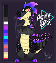 Arcade Gator adopt CLOSED by Lord-Of-Naps