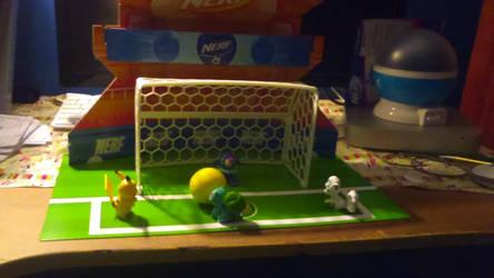 Pokemon play soccer by ksuniverse
