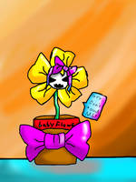 Flowey : Don't Touch me !! ( draw with SAI ) by BlueStar-Shine