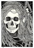 Raven Wraith - Original Ink by DarkLiminality