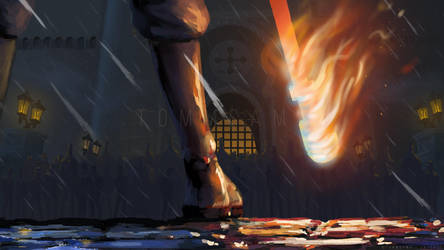 One Piece Fan Art - Flames of the Revolution by TommSama