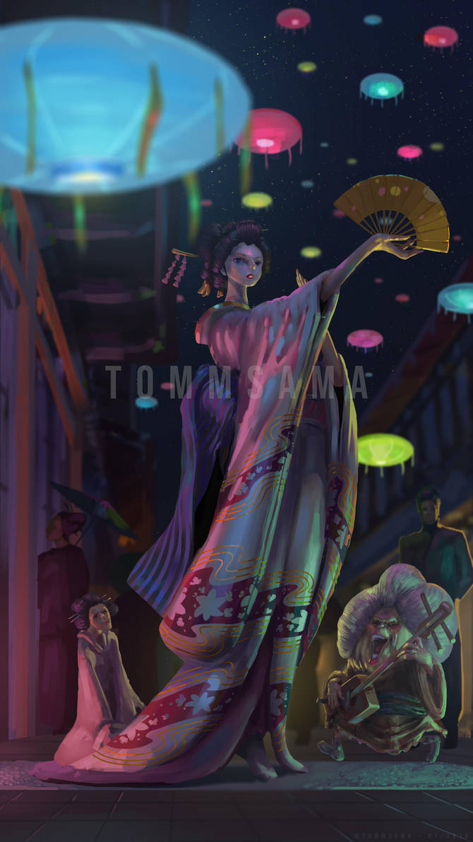 One Piece Colorization - The Geisha, Robin ! by TommSama