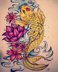 Golden Koi by Sands-Studio