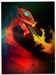 dragon fire loogie by JessCalcaben