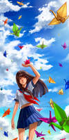 Paper Crane Wishes by manusia-no-31