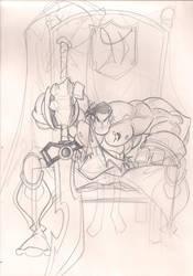sketch-a-day capt haki by skribblboy