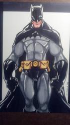 DC Batman Copic colored by skribblboy