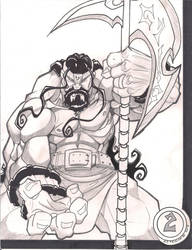 King Warrior 001 by skribblboy