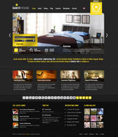 Guesthouse Wordpress Theme - Yellow Dark Skin by ait-themes