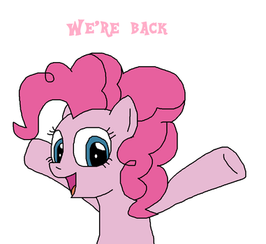 Pinkie Pie announces their return by Mega-Shonen-One-64
