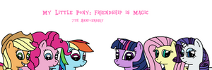 7 years of My Little Pony: Friendship is Magic by MarcosPower1996