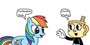 Ms. Chalice meets Rainbow Dash by Mega-Shonen-One-64