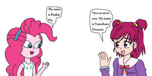 Human Pinkie Pie meets Yumehara Nozomi by Mega-Shonen-One-64
