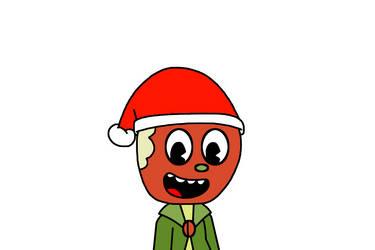 Mac wearing Santa Claus hat by MarcosPower1996