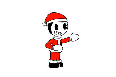Bendy dressed as Santa Claus by MarcosPower1996