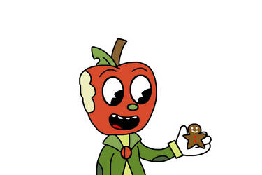 Mac with a gingerbread man by MarcosPower1996