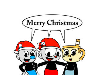 Merry Xmas from Cuphead, Mugman n Ms. Chalice by Mega-Shonen-One-64