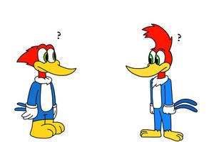 Woody Woodpecker meets his 2018 self by Mega-Shonen-One-64